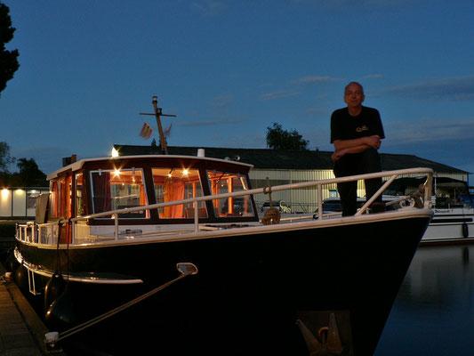 Probefahrt war erfolgreich, der Skipper ist zufrieden