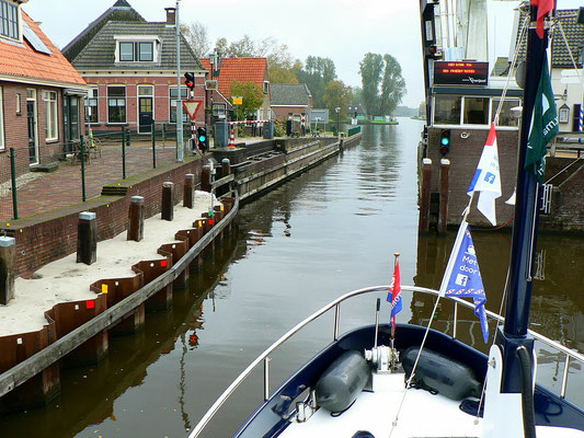 Engstelle in Ossenzijl