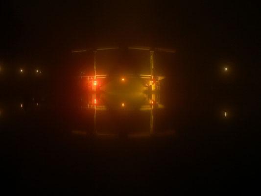 Lange of Vechtbrug im Nebel