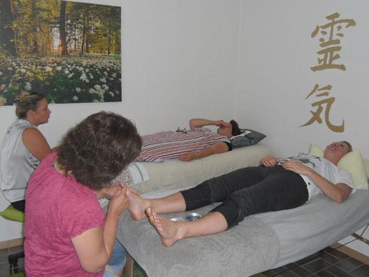 Energetische Massage der Fußgängerzonen
