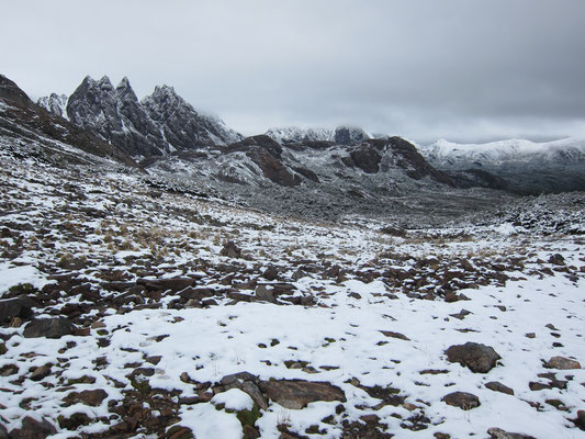 Snow-covered Dientes de Navarino