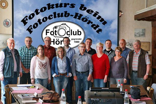 Die Teilnehmer beim Fotokurs im April 2018 - Der nächste Kurs findet im Oktober 2019 statt - Anmeldungen sind über die Kontaktseite möglich.