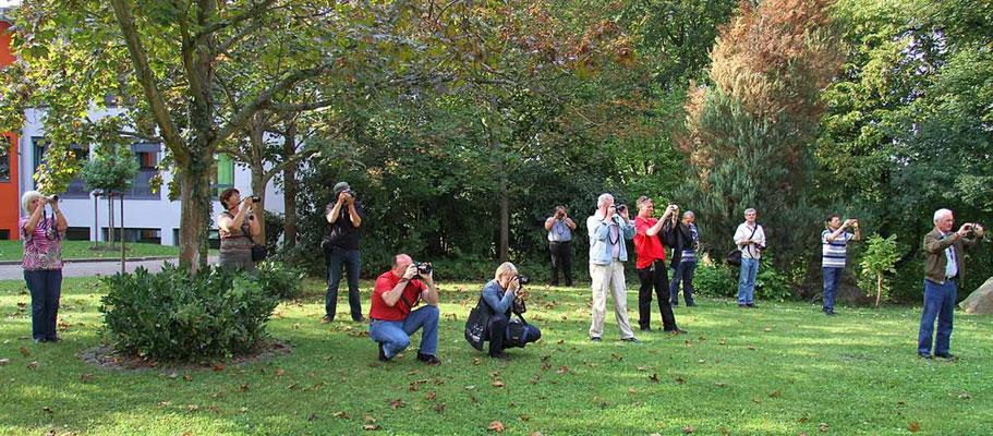 Die Teilnehmer beim Fotokurs im September 2011. - Der nächste Kurs findet im Oktober 2019 statt - Anmeldungen sind über die Kontaktseite möglich.