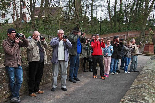 Die Teilnehmer beim Fotokurs im April 2015.
