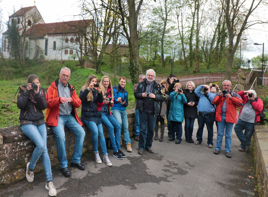 Die Teilnehmer beim Fotokurs im April 2016