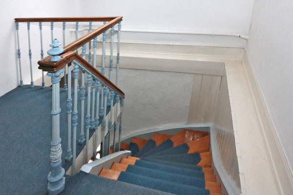 """Innenleben mit Stil: Das Treppenhaus im """"Alten Forsthaus""""."""