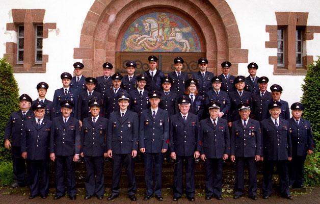 Gruppenaufnahme der Feuerwehr