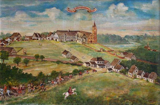Ölgemälde von Hermann Hänlein - Kloster Hördt