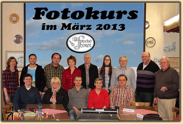 Die Teilnehmer beim Fotokurs im März 2013