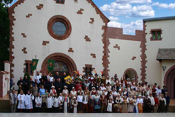 Die Darsteller beim Hist. Festspiel 2005