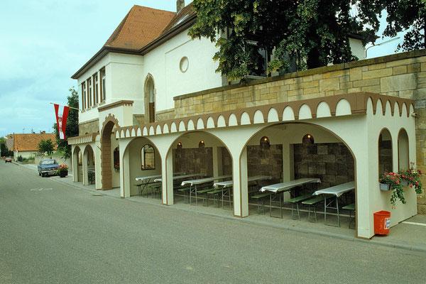 Vorbereitet für die 1200Jahrfeier 1980: Die Schenke des Musikverein-Hamonie