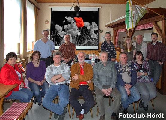 Die Teilnehmer beim Fotokurs im April 2010