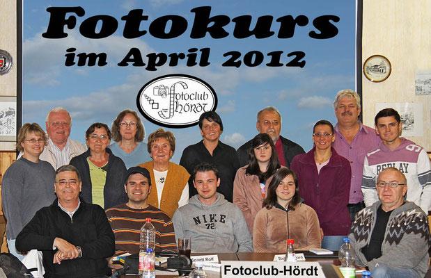 Die Teilnehmer beim Fotokurs im April 2012