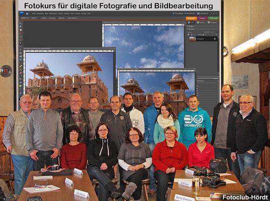 Die Teilnehmer beim Fotokurs im Januar 2013