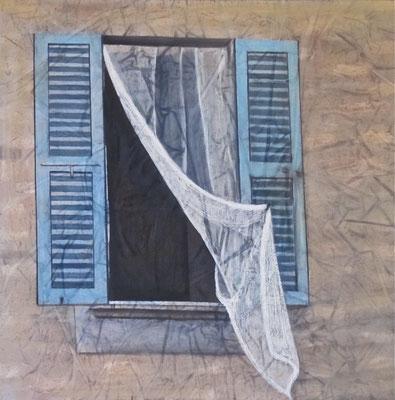 Di distacchi e d'incontri, olio su tela,cm 60x60, 2014