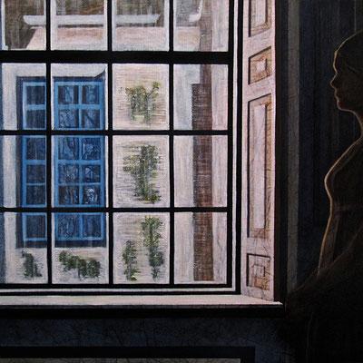 Melanconia, olio su tela, cm100x100, 2011