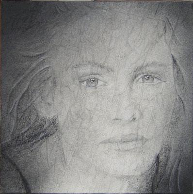 Julia Roberts, olio e pigmenti su tela, cm 50x50