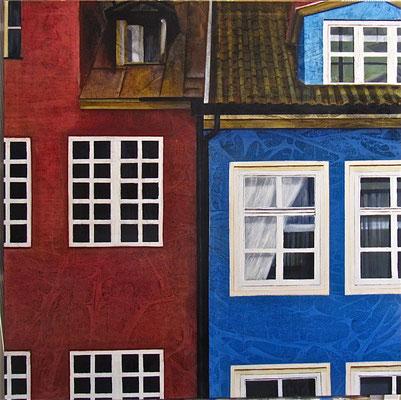 Testimone silenzioso, olio su tela, cm 80x80, 2012