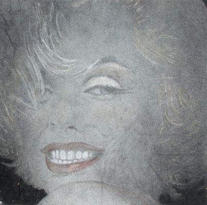 Marylin Monroe, olio e pigmenti su tela, cm 50x50