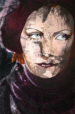 Garbo, olio su tela, cm 150x100