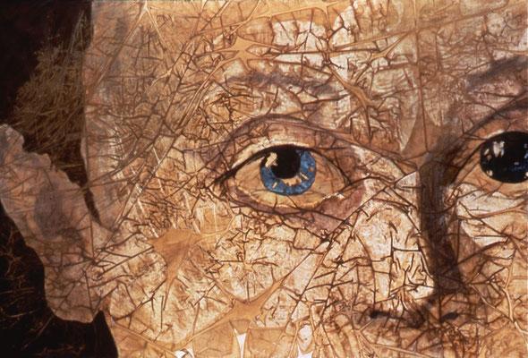 VENUTO DALL ALTROVE 2, olio e oro su tela, cm 100x150
