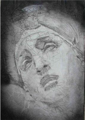 Dròmoi, cm.100x70, olio magro su carta
