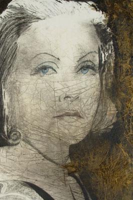 Regina Cristina,  olio, oro e pigmenti su tela, cm 150x100