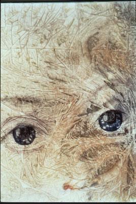 Trasparente-impenetrabile, olio e oro su tela, cm 120x100