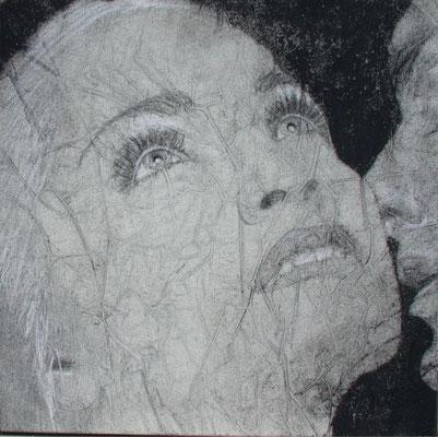Traumheft, olio e pigmenti su tela, cm 50x50
