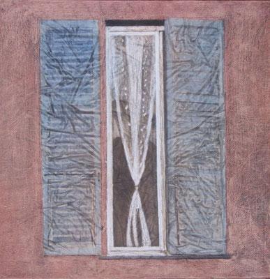 Finestra a Bobbio, olio su tela, cm 60x60, 2014