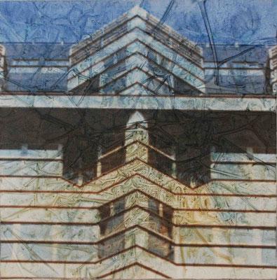 Berlino, Omaggio a H.J.Cobb (PUBBLICITTA'), olio su tela, cm 40x40, 2002
