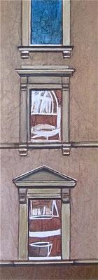 Stradone Farnese, mattino, olio su tela, cm 80x30, 2014
