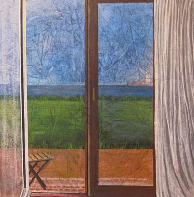 La finestra di Julia, olio su tela, cm 100x100, 2014