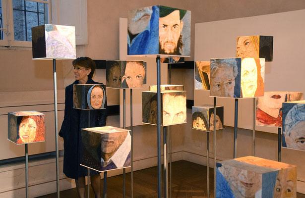 Veduta d'insieme dell'installazione, foto Del Papa