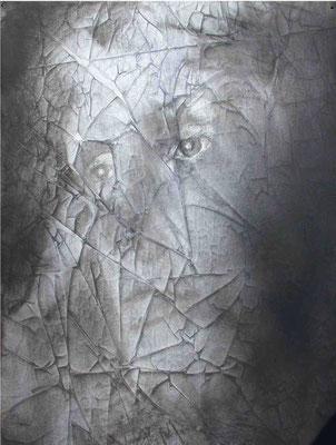 Dròmoi, Virginia Woolf, cm.100x70, olio magro su carta