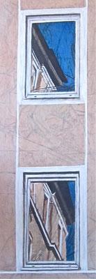 Georgestrasse, mattino, olio su tela, cm 80x30, 2014