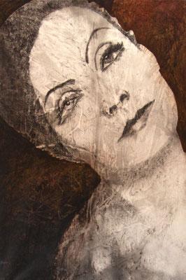 Viaggio intorno a un volto, olio su tela, cm 150x100