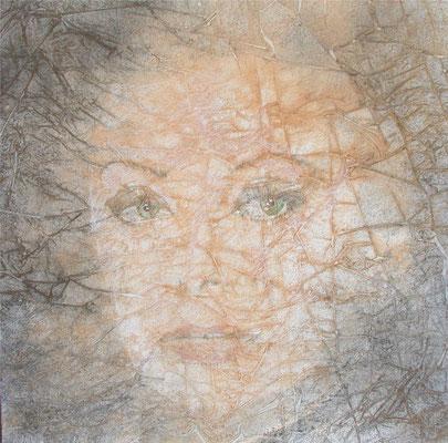 Sophia Loren, olio e pigmenti su tela, cm 80x80