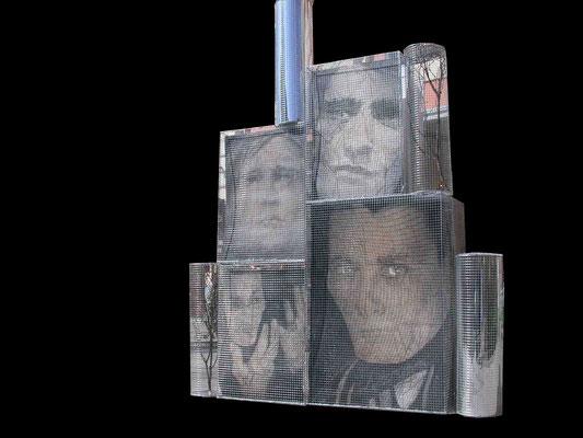Lo sguardo di Artaud,installazione polimaterica, 2006