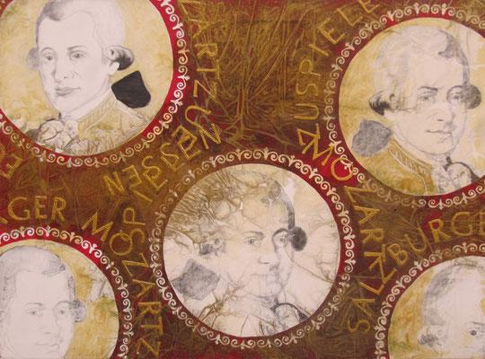Kaiserlicher Spaß, olio, oro e carillon su tela,  cm120x160