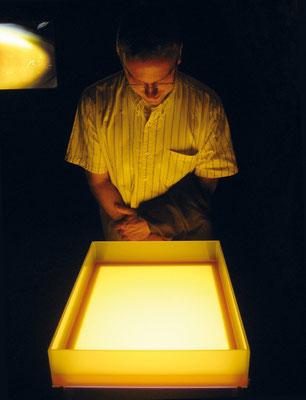 """""""Honigtisch"""" 2007, Installation Ortung V - Foto: Jürgen Hoffmann"""