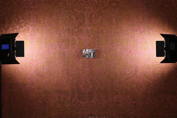 Aufnahmesituation für Künstlerbuch 1968 - Ratibor, in der Galerie Schloss Ratibor