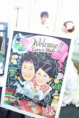 結婚式会場での写真