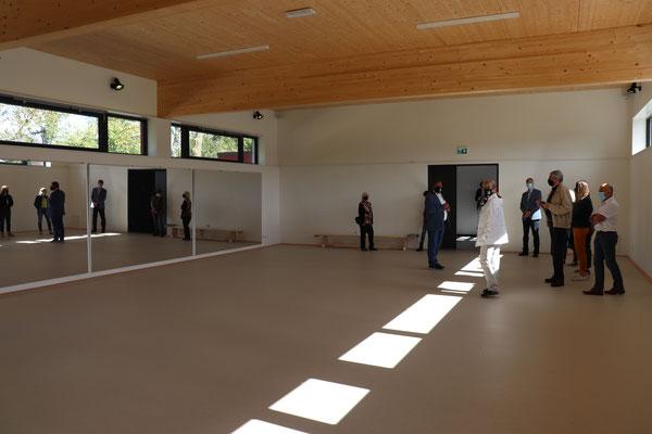 Rund 120 Quadratmeter bietet Platz bietet die neue Halle insbesondere für unsere neue Sparte Gesundheitssport.