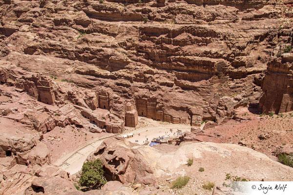 Blick auf Petra