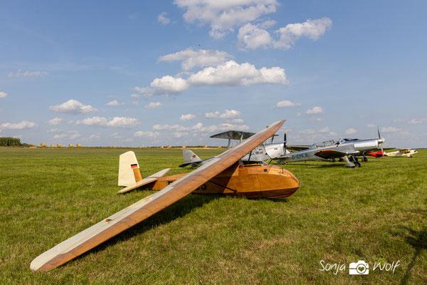 Segelflieger aus Holz