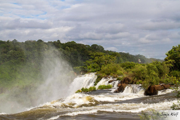 Blick auf die brasilianische Seite der Wasserfälle