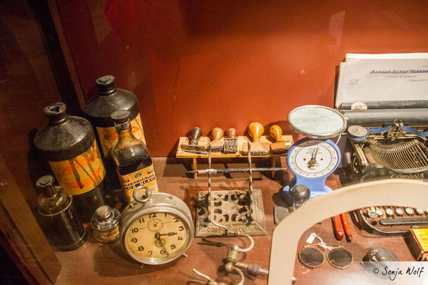 Blick in die Reclus Hut / Historic Dockyard Museum