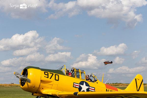 Modelflieger bei der Landung