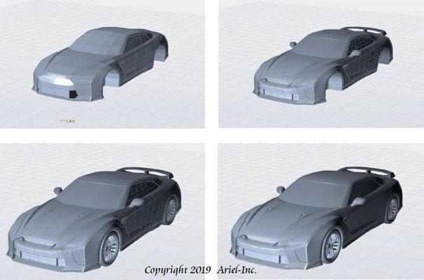 モックアップモデル、模型のモデリング、データ作成依頼